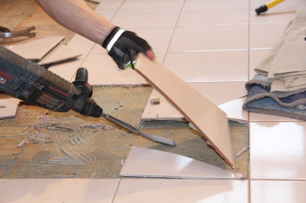 How To Remove A Tile Floor and Underlayment Tile removal