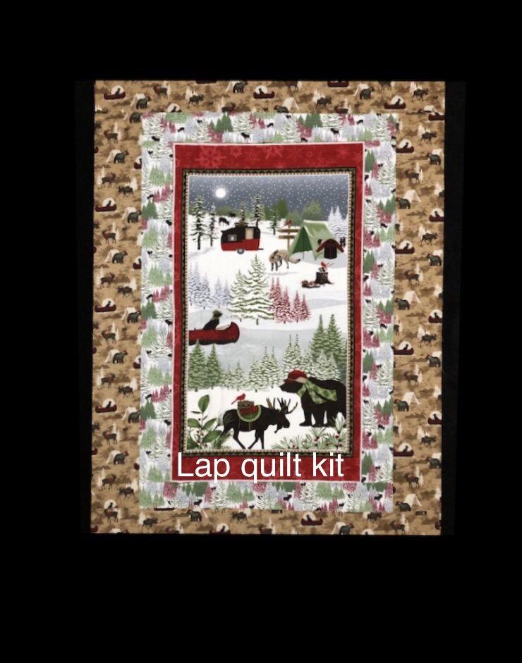 Woodland Haven quilt kit, flannel fabric lap quilt ...