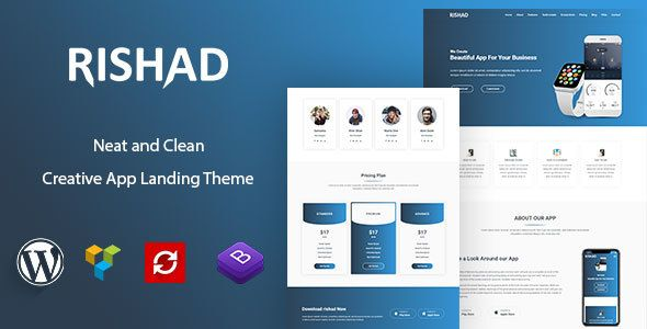 Rishad - App Landing WordPress Theme | Wordpress, App and Template
