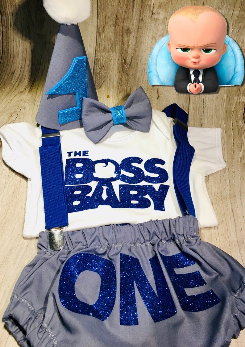 Cake Smash Outfit Baby Boy Boss Baby Inspired First
