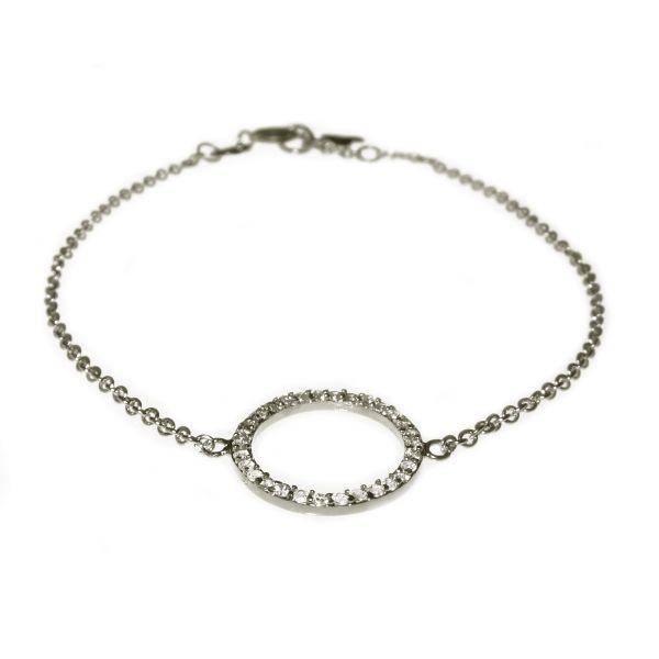 Bracelet zircon ring silver