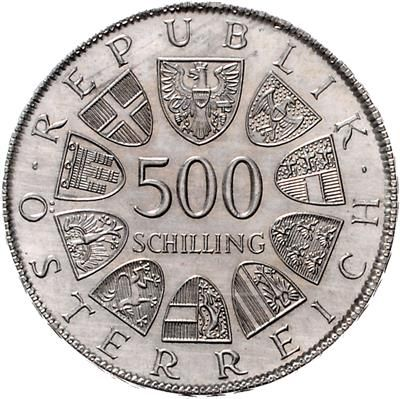 AR Probe zur 500 Schillingmünze Leopold Figl 1982