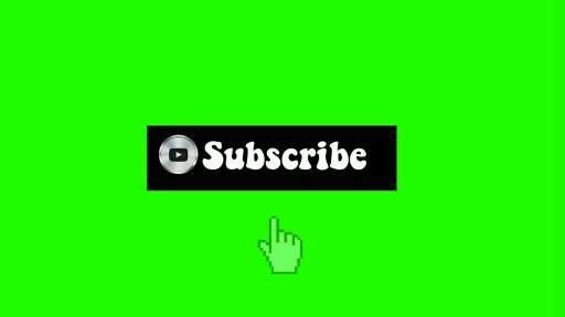 Green screen subscribe button