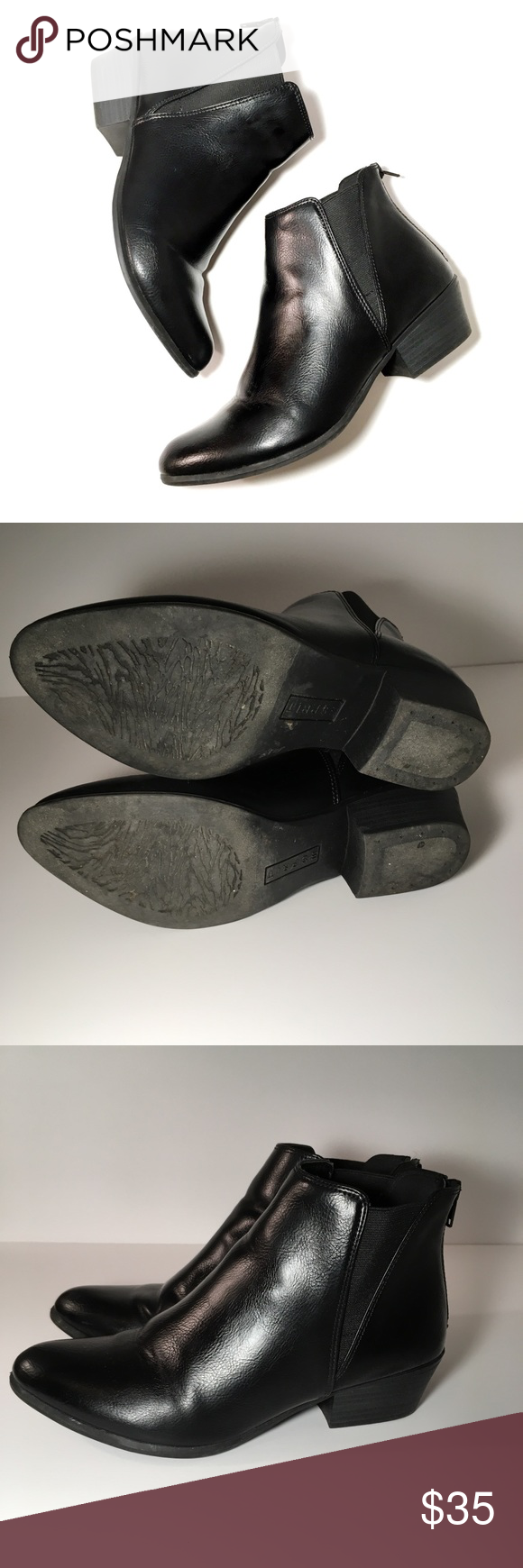 Esprit Black Tiffany Ankle Boots Esprit Black Tiffany Ankle Boots. Size 8 and features a zipper at the back of the shoes. Super comfortable and look great with skinny jeans! Esprit Shoes Ankle Boots & Booties #skinnyjeansandankleboots