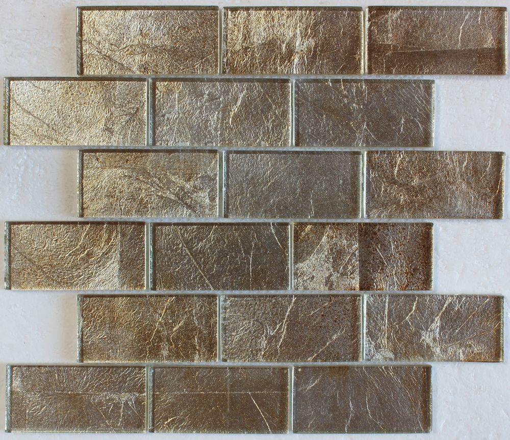 - Details About Gold Silver Foil Glass Mosaic Tile 2