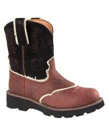 Ariat Fatbaby Saddle Boots Cowboy Boots 11 Pink Ostrich