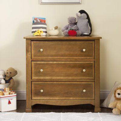 Davinci Kalani 3 Drawer Chest Color Chestnut Dresser Drawers 3
