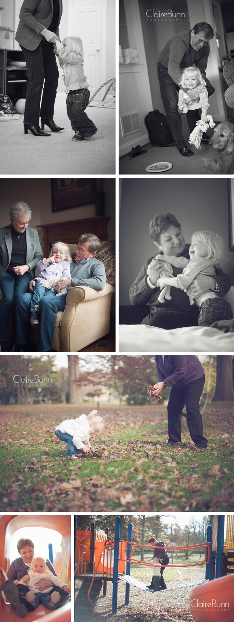 Grandparents and their granddaughter  Claire Bunn Photography  Lifestyle Photography. Can't wait to take professional pictures with our kids and their grandparents on both sides! #grandkidsphotography