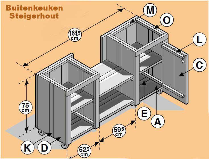 Doe Het Zelf Bouwpakket Buitenkeuken Steigerhout Met