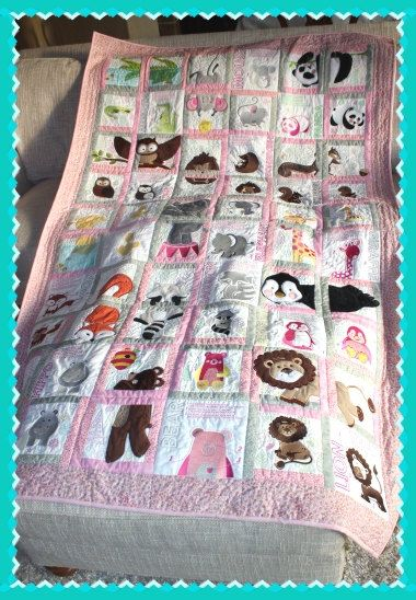 Pink And Grey Anita Goodesign Quilt By Beautifulbabesbtq On Etsy