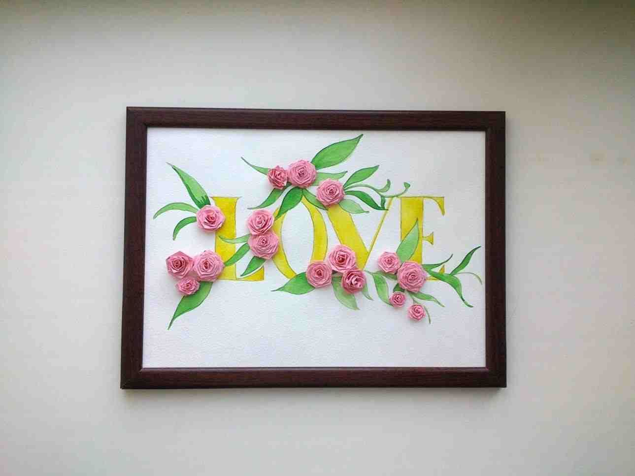 Simple quilling crafts diy quilled monogram full size of greeting card cards paper birthday fresh also rh pinterest