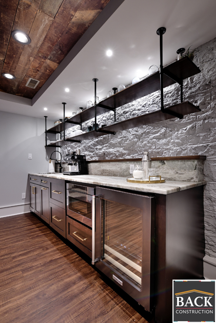Wet Bar In A Custom Basement Man Cave Man Cave Bathroom Man Cave Basement Classy Man Cave