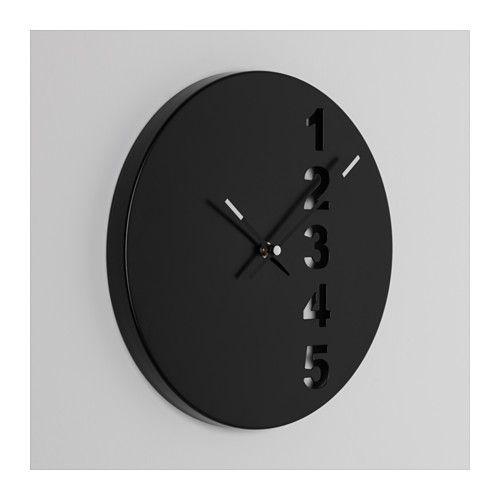 Fejs orologio da parete acciaio nero ikea orologio e for Orologio digitale da parete ikea