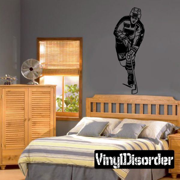 Hockey Wall Decal - Vinyl Decal - Car Decal - Bl006