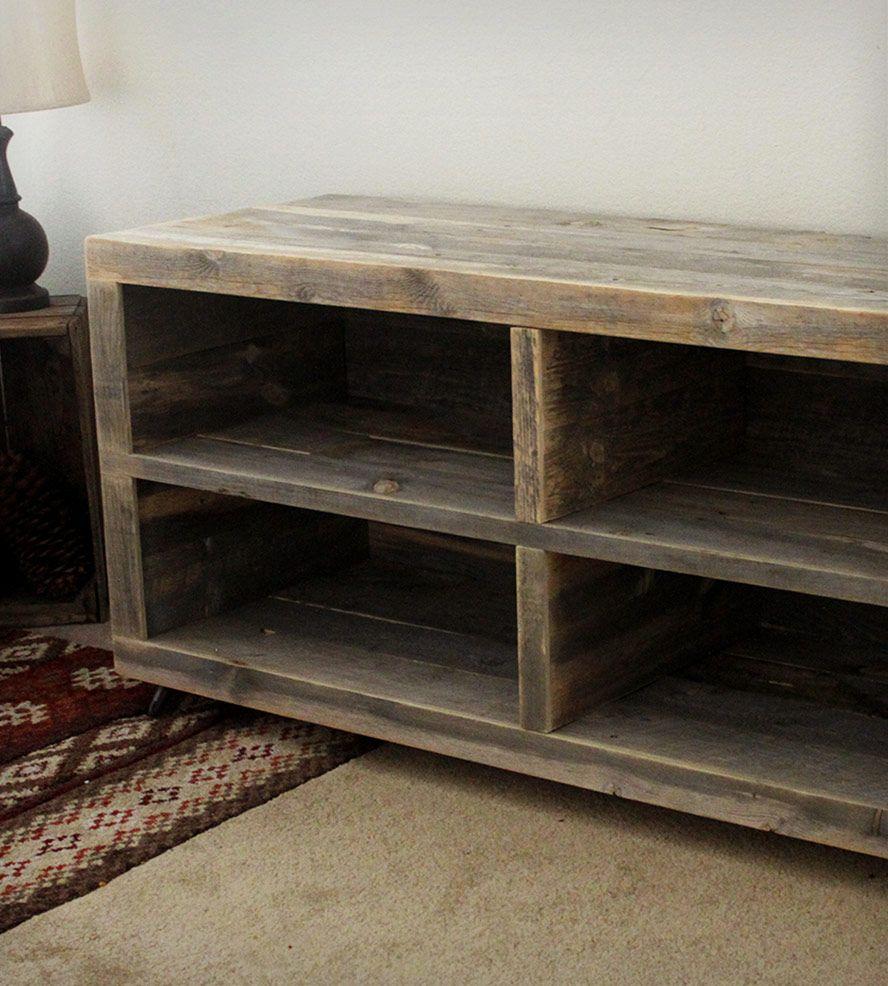 Reclaimed Wood Bookshelf Dise O R Stico Muebles De