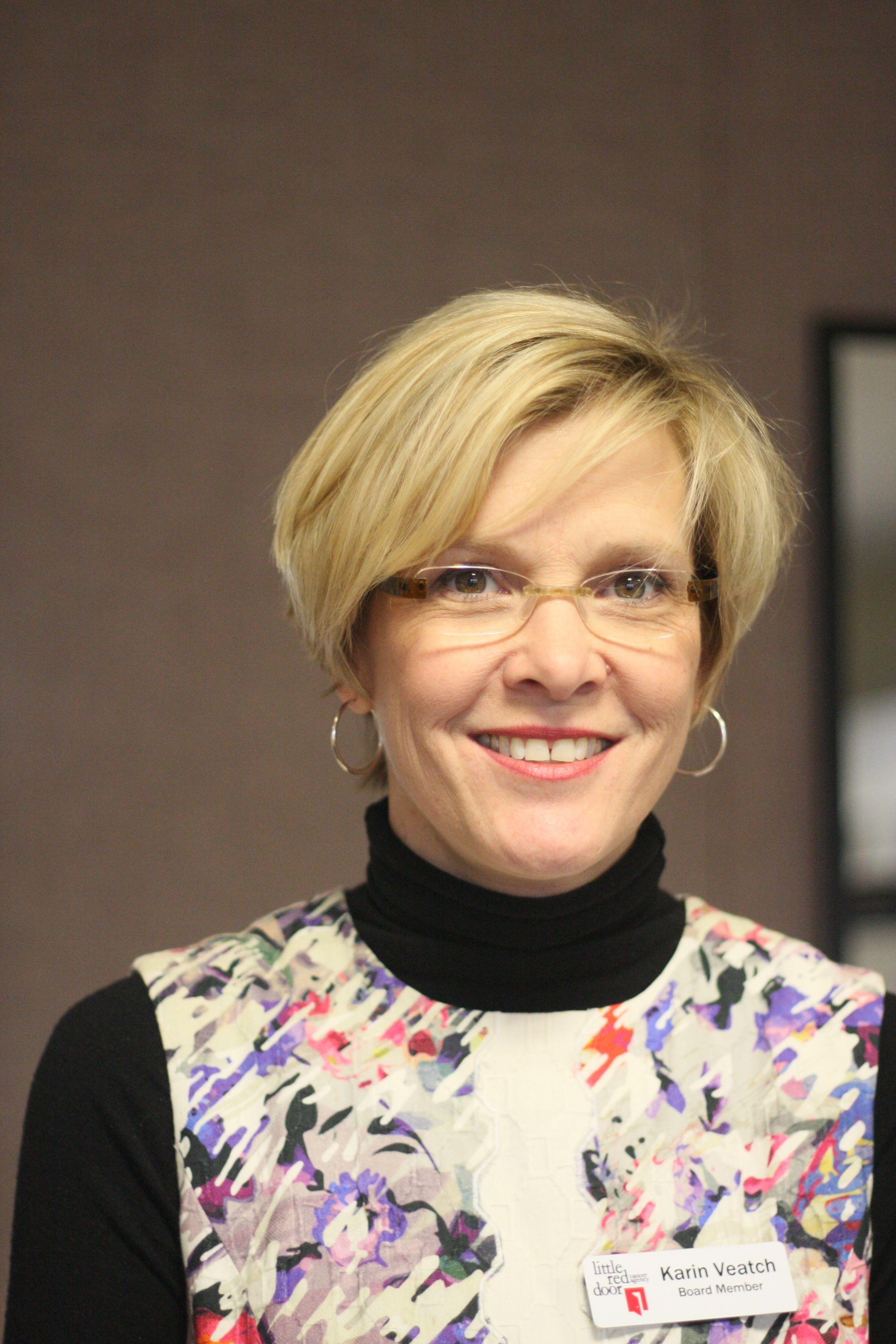 Board Member Karin Veatch, JP Red door, Little