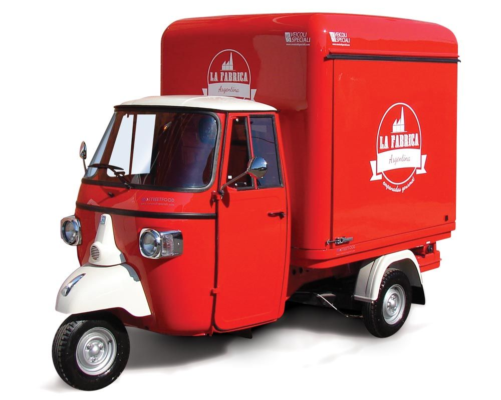 piaggio food truck for sale: we design and customise it for you