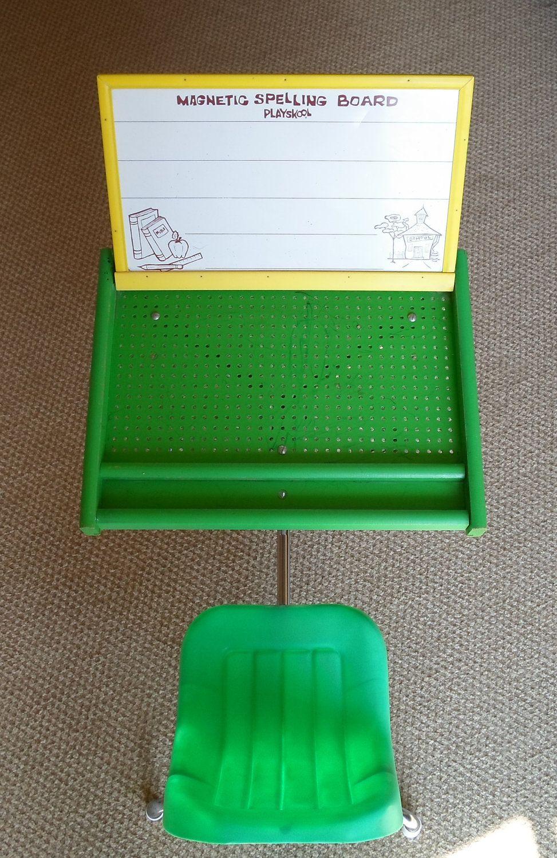 Vintage Playskool Childs Desk School Chalk Board Magnetic