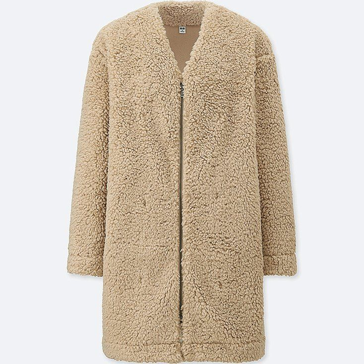 Women fluffy fleece long-sleeve coat  4ef03e9fa5d
