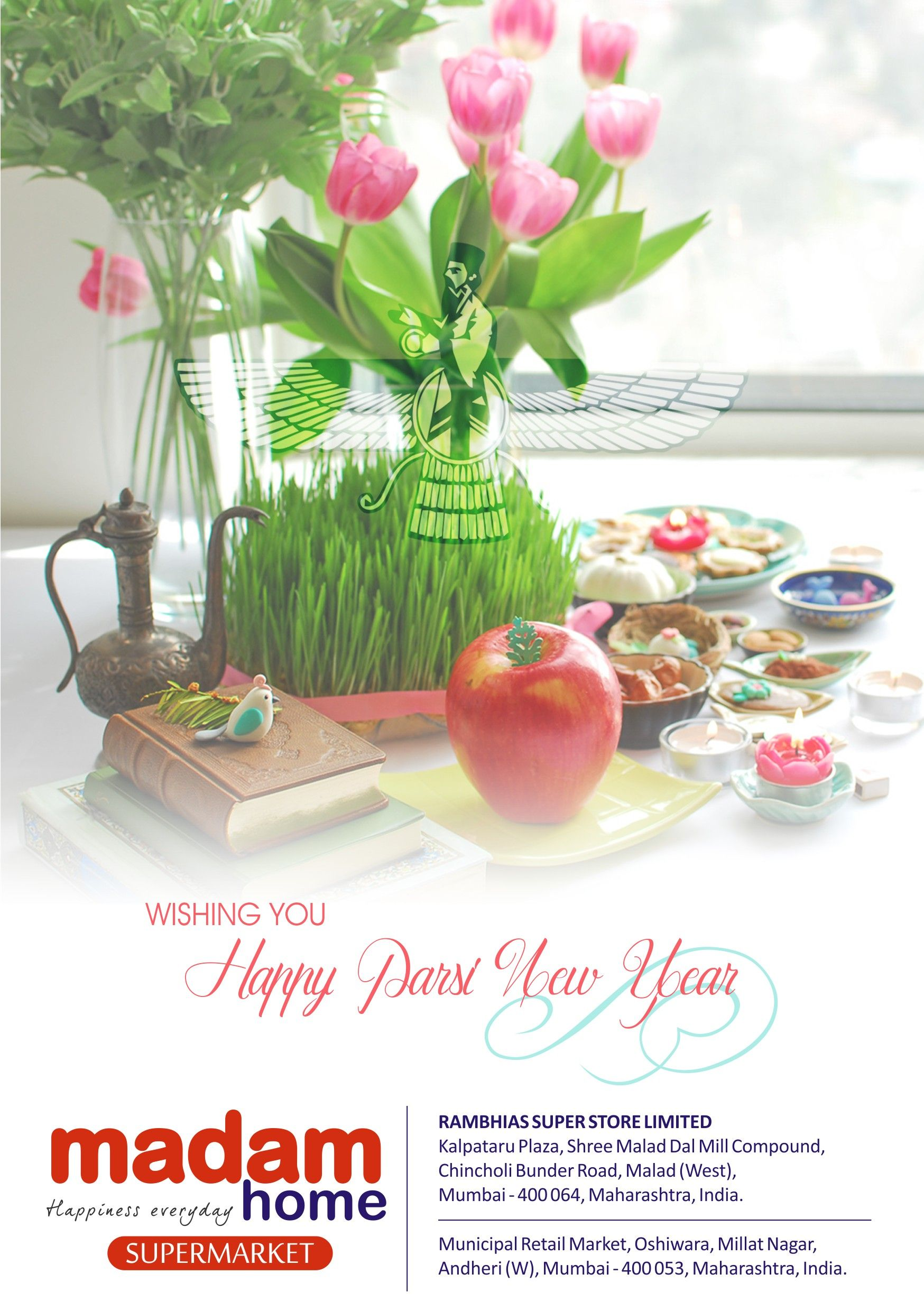 Happy PARSI NEW YEAR | Greetings, Supermarket, Table ...