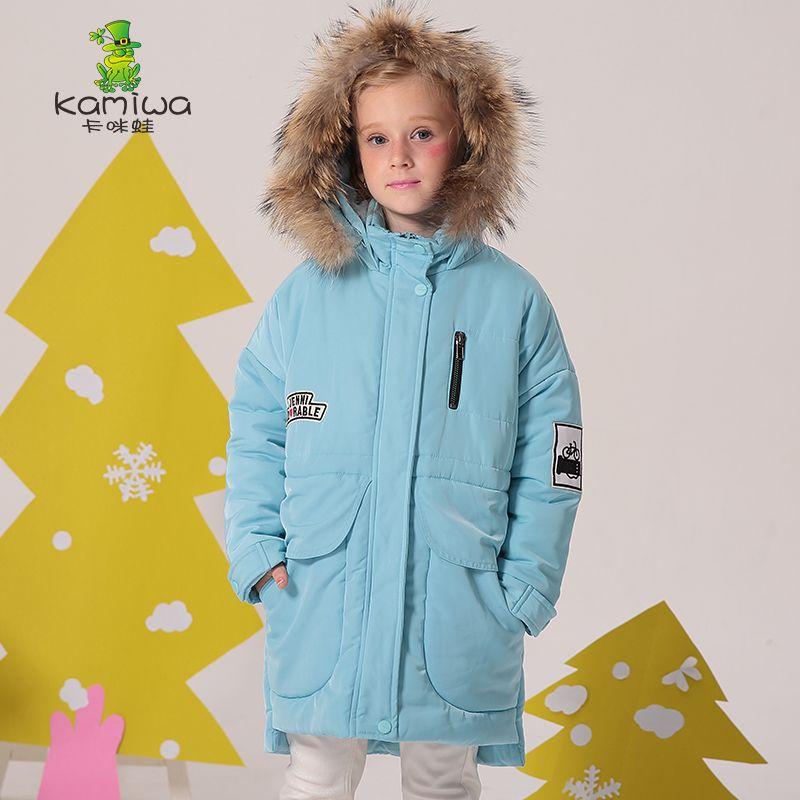 37747e94b KAMIWA 2017 Cotton-padded Girls Winter Coats And Jackets Hooded ...