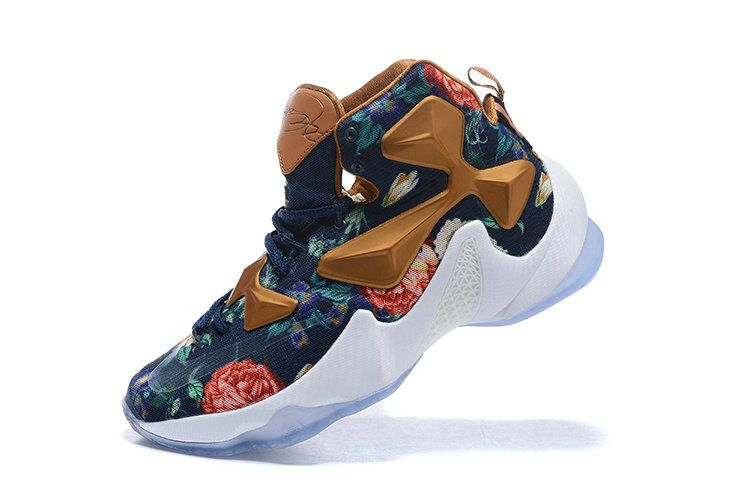 0e6962697fa3 Free Shipping Only 69  Lebron 13 XIII Floral EXT QS Metallic Copper White