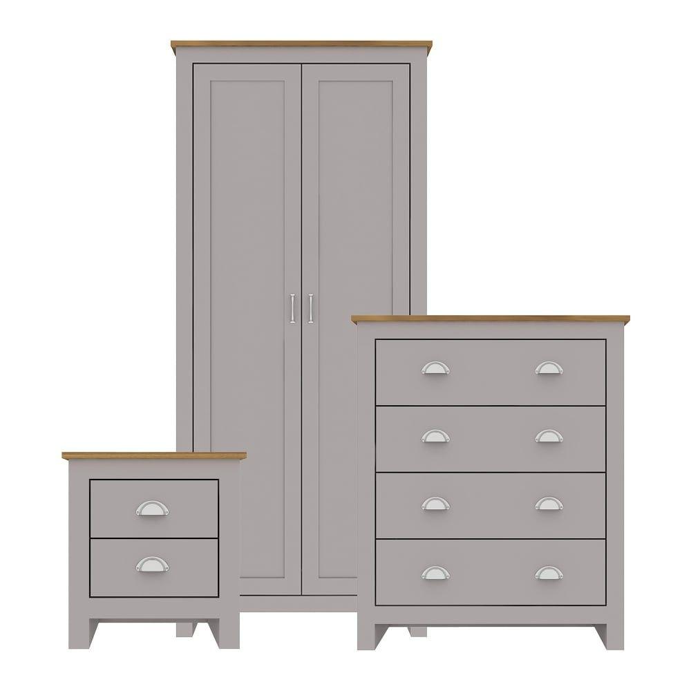Best Lpd Furniture Lancaster Grey Oak Bedroom Set Leader 400 x 300