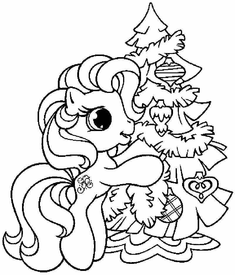 Pinkie Pie And Christmas Tree Coloring Pages - Disney Coloring ...