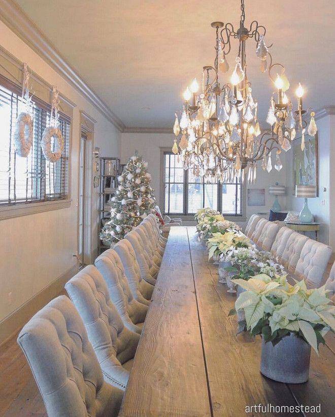 30 Awesome Christmas Decoration Ideas Christmas Dining Room Luxury Dining Large Dining Room