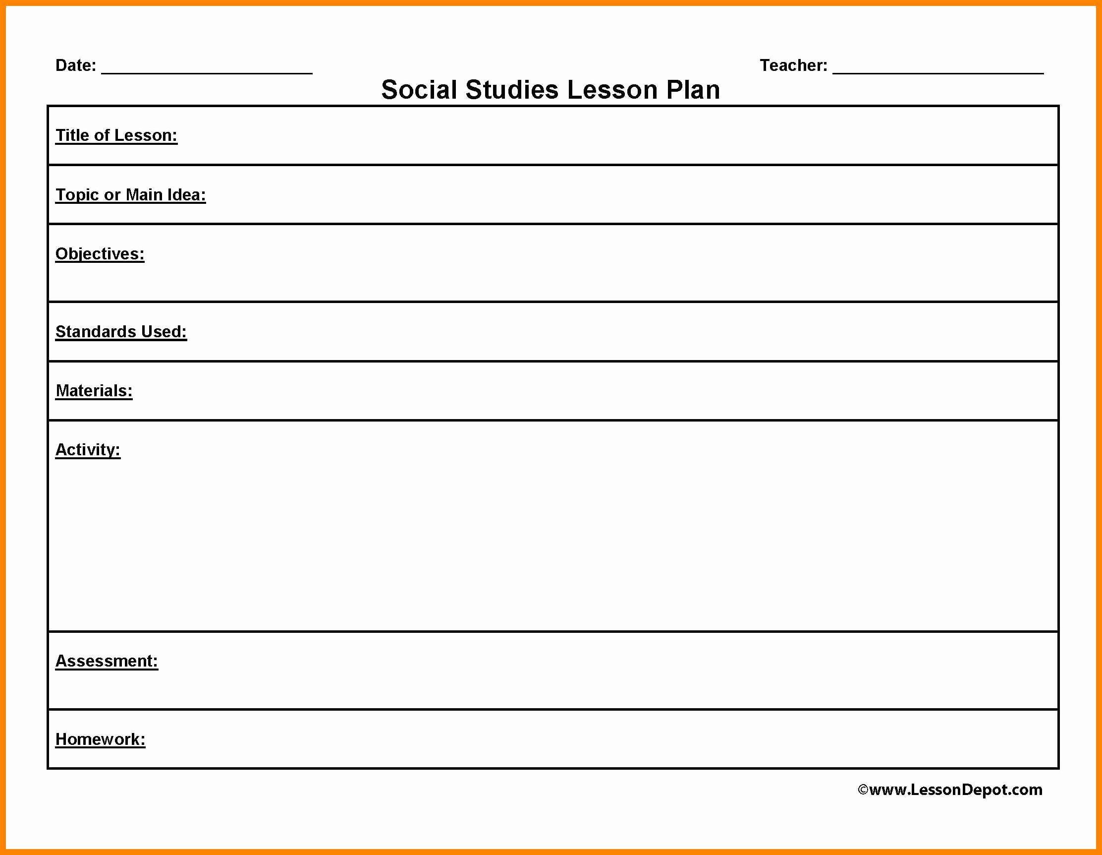 Lesson Plan Template Word Doc Inspirational Lesson Plan Template Word Printable Lesson Plans Lesson Plan Template Free Lesson Plan Outline