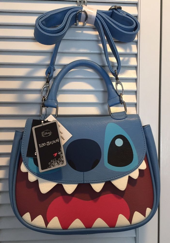 ec969f25155 Disney Lilo And Stitch Face Crossbody Satchel Purse Bag NEW! Loungefly Tote   Loungefly  Satchel