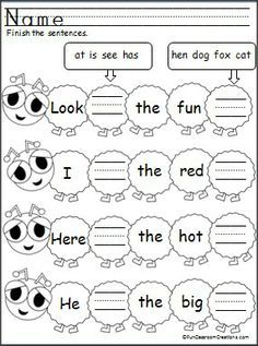 free sentence building worksheets - Google Search | Education
