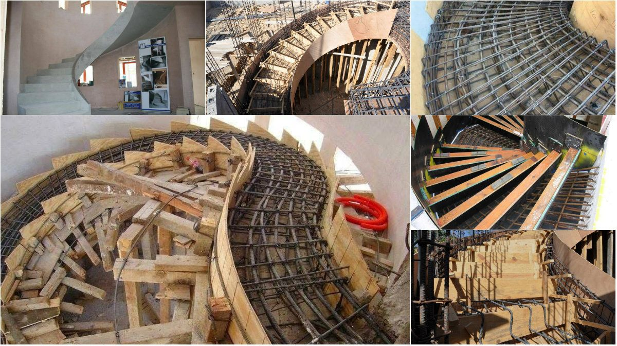 Demonstration Of Building Curved Concrete Staircases Architecture Admirers Escaleras Arquitectura Disenos De Unas