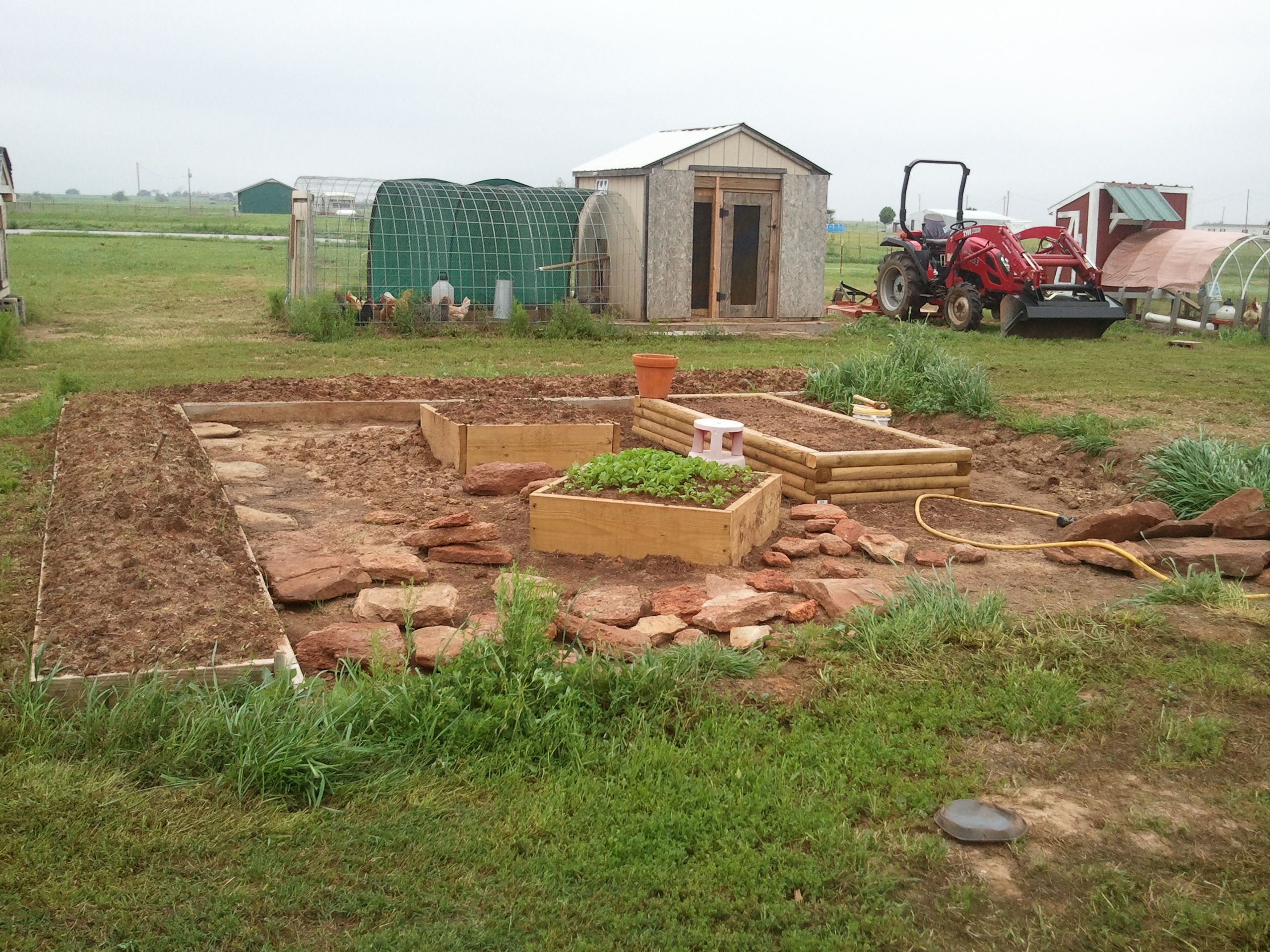 The main garden, in progress. | Kimbrell Family Farm | Pinterest