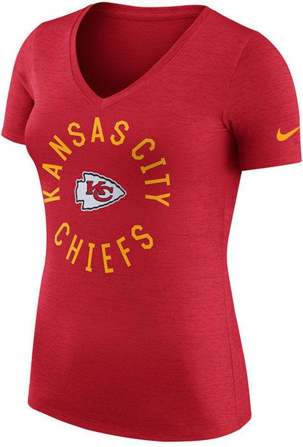Nike Women s Kansas City Chiefs Dri-Fit Touch T-Shirt  5519eee16