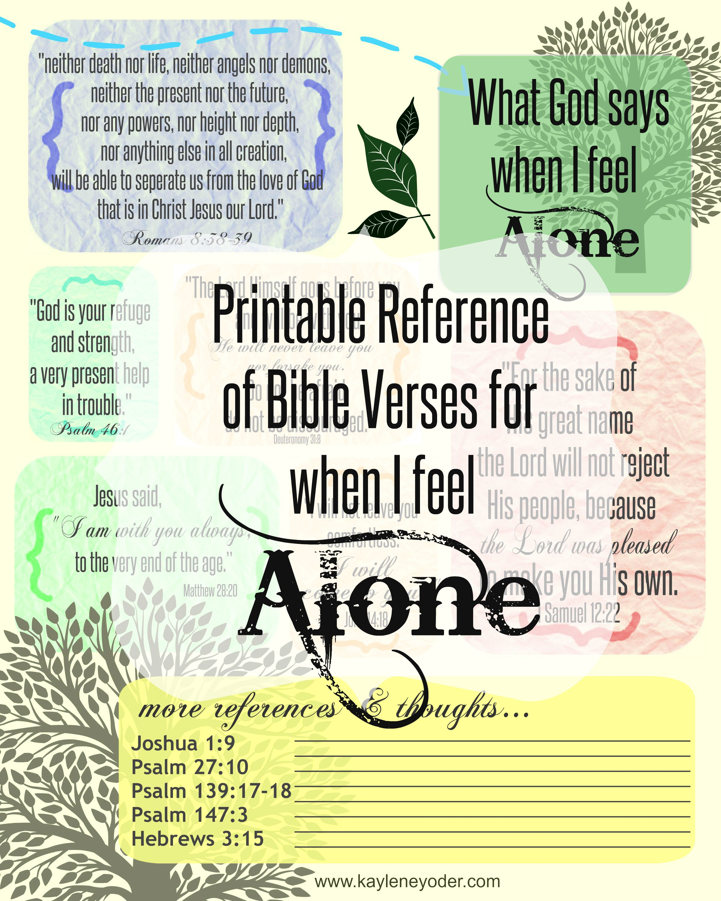 Free Online Bible Quotes: Bible Verses For When You Feel Alone