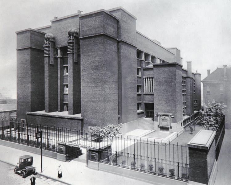 Seneca Street side of the Larkin Administration Building.