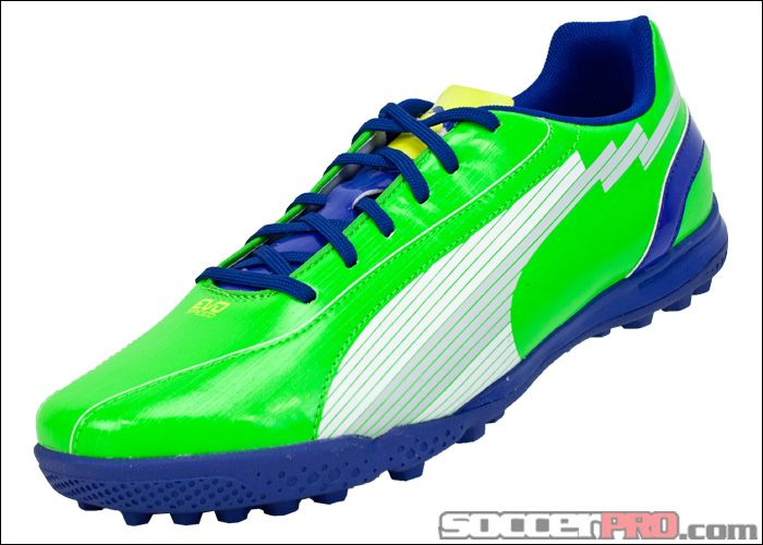 Puma evoSPEED 5 TT Turf Soccer Shoes - Green with White... 53.99 ... 84b6f23e6ec0