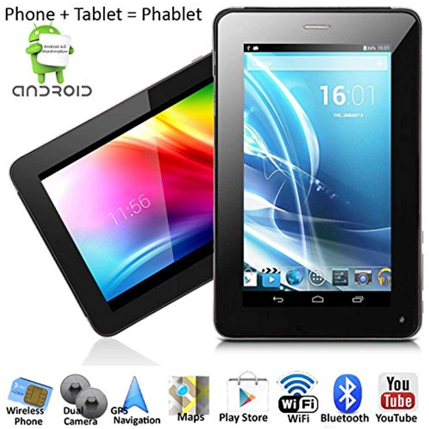 Indigia Phablet 7 Android 4 2 Smartphone Tablet Pc 2 In 1
