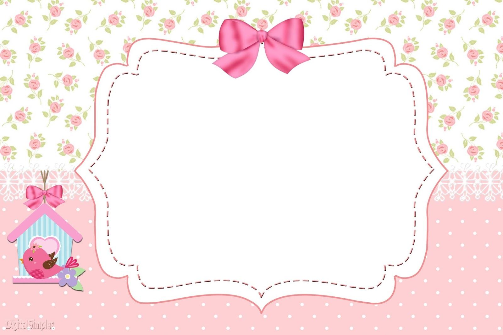 Kit De Personalizados Tema Passarinhos Para Meninas Para