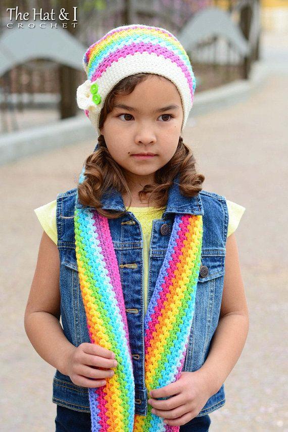 Crochet Scarf Hat Pattern Crayon Box Crochet Pattern For Scarf