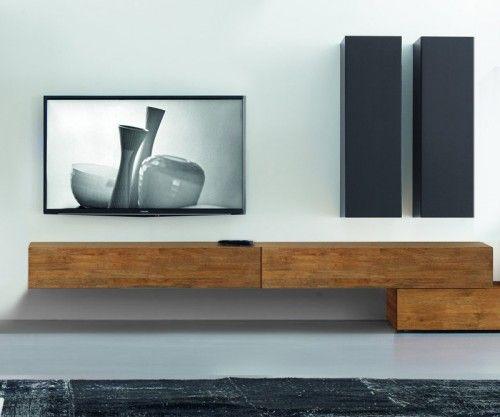 FGF Mobili Massivholz Hängendes Lowboard B 240 cm TVs, Tv walls - tv wand