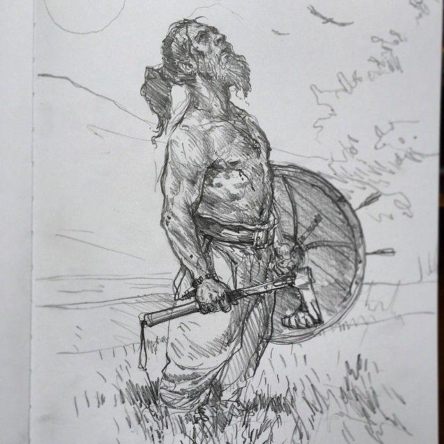 Another Viking warrior sketch - Karl Kopinski
