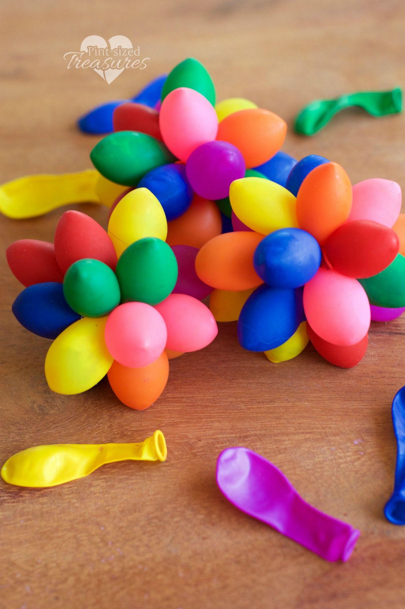 Are Bouncy Balls Answer To Fidgety Kids >> Sensory Rainbow Balloon Balls Kids Activities Sensory Balloons