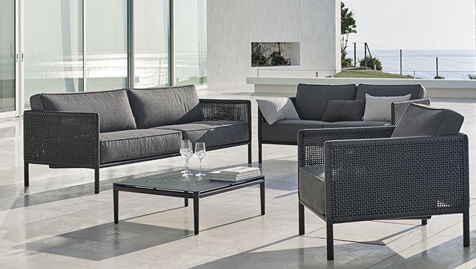 Hagemøbler fra Cane-line - Lounge møbler i eksklusivt dansk design - lounge gartenmobel outlet