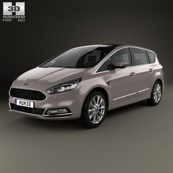 3d Model Of Ford S Max Vignale 2016 Ford Price Ford Van Ford