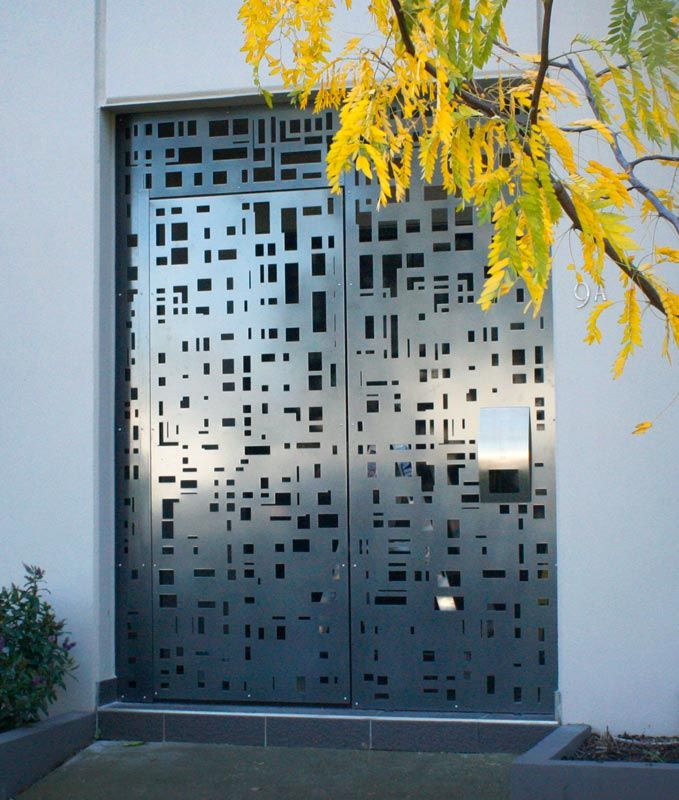 Modern Entrance Design With Decorative Aluminium Fence For: Steel Fencing Panels Melbourne