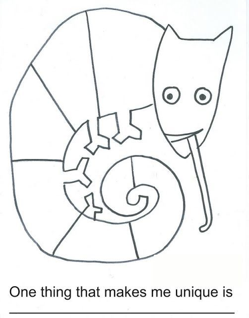 here's a worksheet for the mixed up chameleon | eric carle ... - Chameleon Coloring Pages Printable