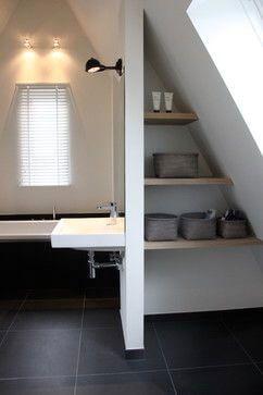 Badkamer met schuin dak: 8 voorbeelden ter inspiratie ...