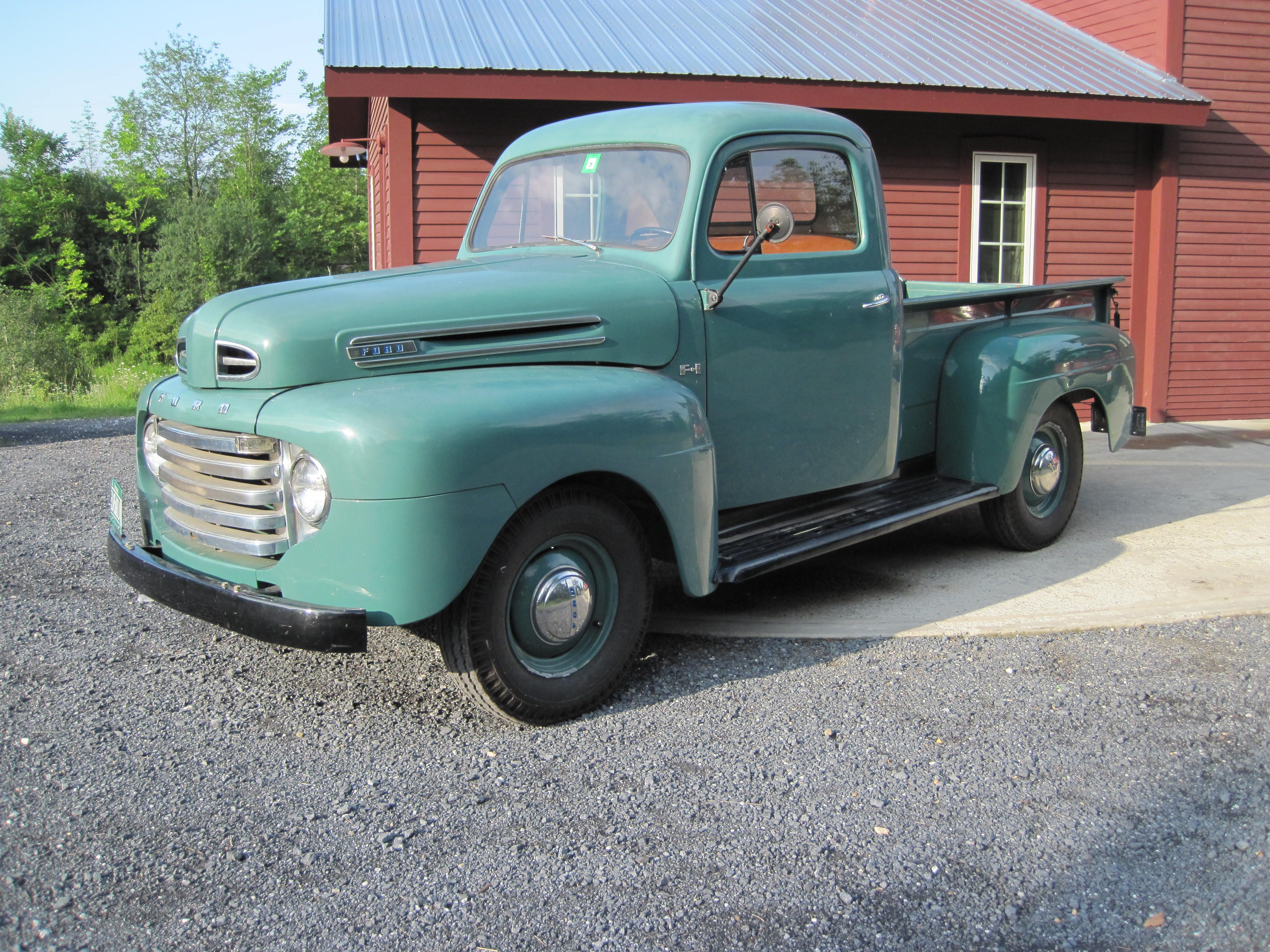 1950 Ford F100 Green Pick Up Truck 1952 Ford Truck Trucks